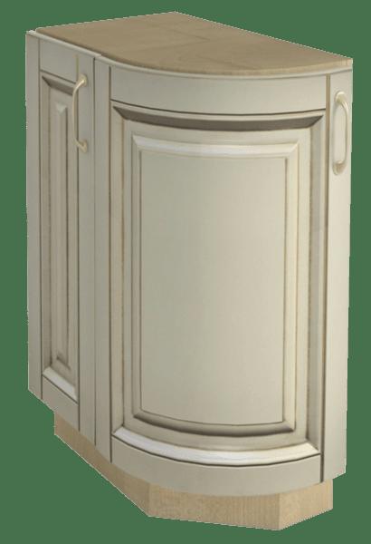Долен кухненски шкаф H 30x87 дв.заоблен